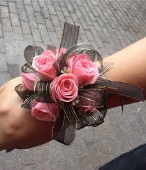 and black corsage pink black wrist corsage in pleasanton ca alexandria s flowers