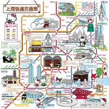 Shanghai Metro Map In Chinese by Hello Kitty Shanghai Metro Map China Pinterest Shanghai And