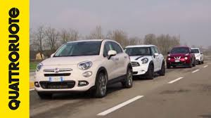 peugeot mini car fiat 500x vs mini countryman vs peugeot 2008 vs nissan juke youtube