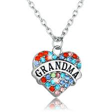 grandmother necklaces fashion colorful heart grandmother necklaces women