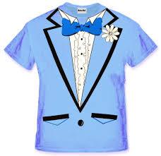 tuxedo shirt s light blue tuxedo t shirt with ruffles