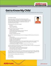 new teacher letter how to introduce your child with adhd