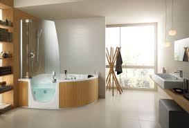 bathroom contemporary acrylic free standing bathtub design idea