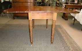 Cherry Drop Leaf Table Antique Early Cherry Drop Leaf Drop Side Table Turned Legs Old