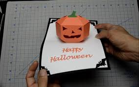 halloween pop up card 3d pumpkin tutorial youtube