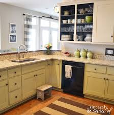 Photos Of Painted Kitchen Cabinets Painting Kitchen Cabinets With Chalk Paint Update Sincerely Sara D