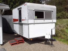 Hi Lo Camper Floor Plans 19 Travel Trailer With Garage Adorable Vintage Trailers