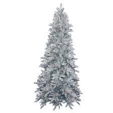 shop northlight 6 5 ft pre lit tinsel slim artificial christmas