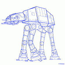 Step 9 How To Draw an Imperial Walker Imperial Walker