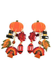 mam fall foliage thanksgiving earrings from alabama by jubilee gift
