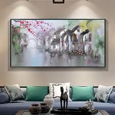 home decor wall sans cadre toile impressions peinture 縲 l huile printemps paysage