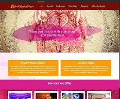 wedding planner website wedding planner website design company udaipur rajasthan india