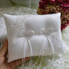 ring pillow unique satin bow knot bridal wedding ring pillow water