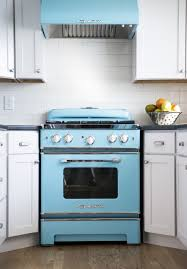 Gray Blue Kitchen Cabinets Great Retro Kitchen Appliances Featuring Cream Color Wooden