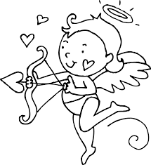 cupid coloring pages valentine tags cupid coloring