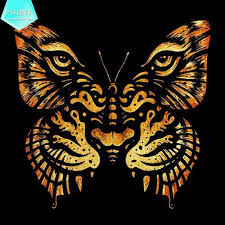pshiny 5d diy embroidery butterfly tiger animals pictures
