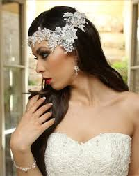 bridal headpiece bridal headpiece lace and pearls halo mila by kezani kezani