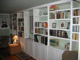 painting built in bookcases built in book cases