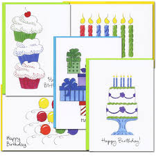 boxed birthday cards color sketch i assortment for business