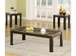 End Tables Sets For Living Room Living Room Black Wooden Table With Marble Countertop For Living