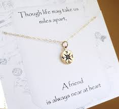 college graduation gifts for friends compass necklace friendship necklace college graduation best