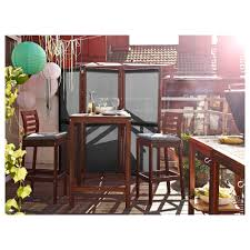 Bar Stools Ikea Thailand Best by äpplarö Bar Stool With Backrest Outdoor Brown Stained Ikea