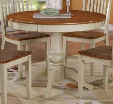 Dining Room Elegant Image Of Dining Room Design With Round White - Antique white pedestal dining table