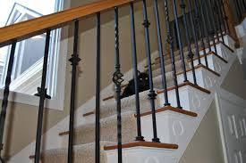 Wrought Iron Banister Wrought Iron Balusters Traditional Staircase Charlotte By