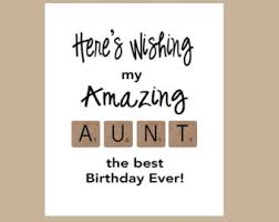 aunt birthday card etsy