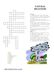 crossword puzzle natural disasters natural disasters pinterest