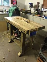 completed hard maple work bench and absolutely the most favorite