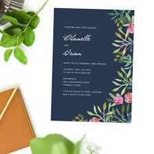 Wedding Invitations Brisbane Online Shop Floral Wedding Invitations