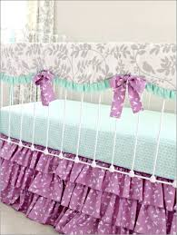 Purple Bedding For Cribs Bedding Cribs Animal Print Crib Skirt Baby Oval Cribs