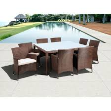 atlantic contemporary lifestyle grand new liberty deluxe brown 9 atlantic contemporary lifestyle grand new liberty deluxe brown 9 piece square all weather wicker