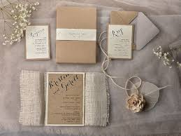 country chic wedding invitations handmade rustic wedding invitation ideas