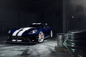 dodge viper dodge viper acr slips into white adv 1 wheels