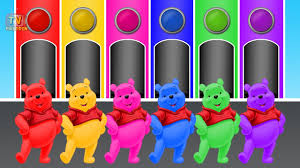 learn colors winnie pooh children u0026 color garage