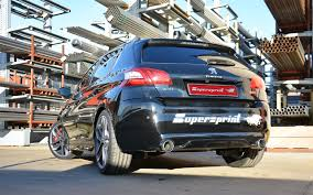 peugeot 308 gti blue performance sport exhaust for peugeot 308 gti peugeot 308 gti thp
