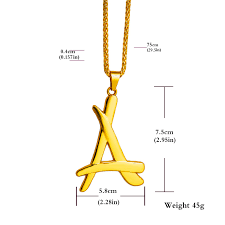 kid ink alumni chain hot same style a letter gold chain necklace necklaces