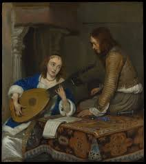 gerard ter borch the younger a young woman at her toilet with a