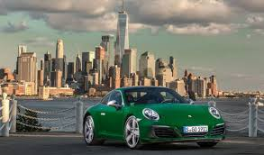 green porsche 911 the millionth porsche 911 arrives in nyc
