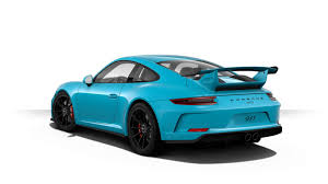 porsche 911 configurator create your 2018 porsche 911 gt3 with updated configurator