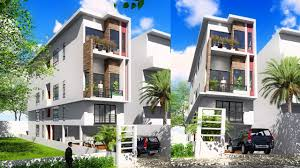 narrow house designs sketchup 4 story narrow house design 4 4x20m