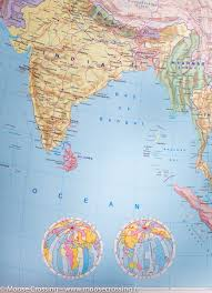 A Map Of Asia by Wall Map Of Asia Political And Physical Freytag U0026 Berndt