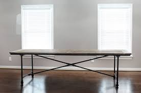 restoration hardware flatiron table a completely blank canvas 7th house on the left