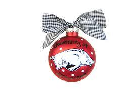 of arkansas razorbacks ornament 2 styles