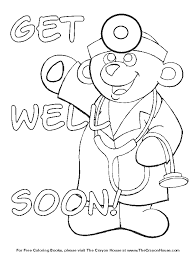 kids get well soon get well soon coloring pages to and print for free