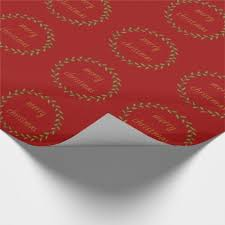 personalized wrapping paper green gold wreath on personalized wrapping paper gifts