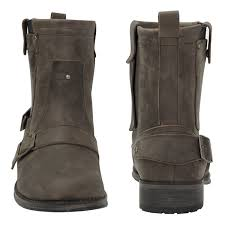 womens leather motorcycle boots australia xelement lu9006 s brown side pocket buckle motorcycle boots