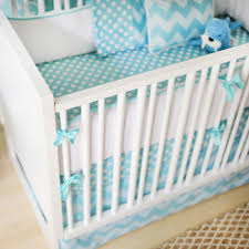 Zig Zag Crib Bedding Set Zig Zag 3 Crib Bedding Set In Aqua Boy Bedding Bedding